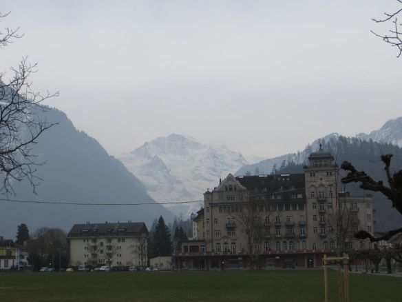 Jungfrau in the distance