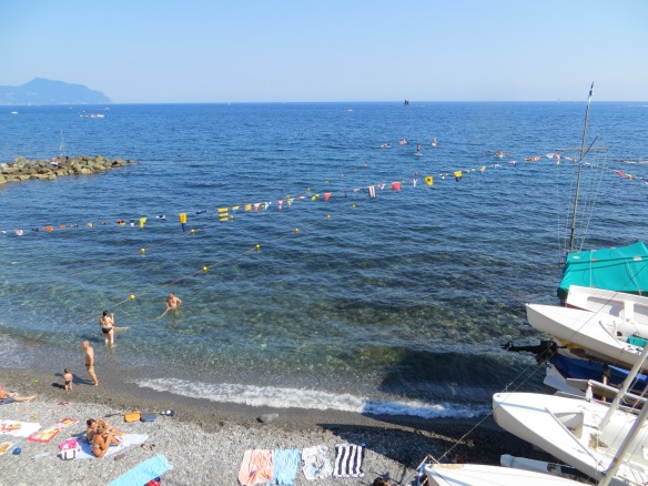 One of the many beautiful beaches along Genova's coast.