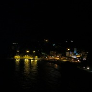 Monterosso at night when I hiked up a nearby hill