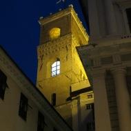 Medieval Genoa lit beautifully at night