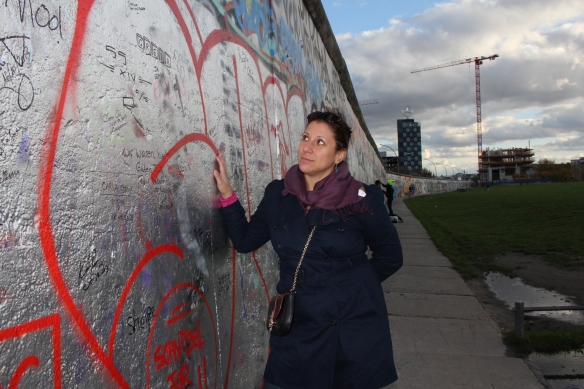 touching the Berlin Wall for the first time