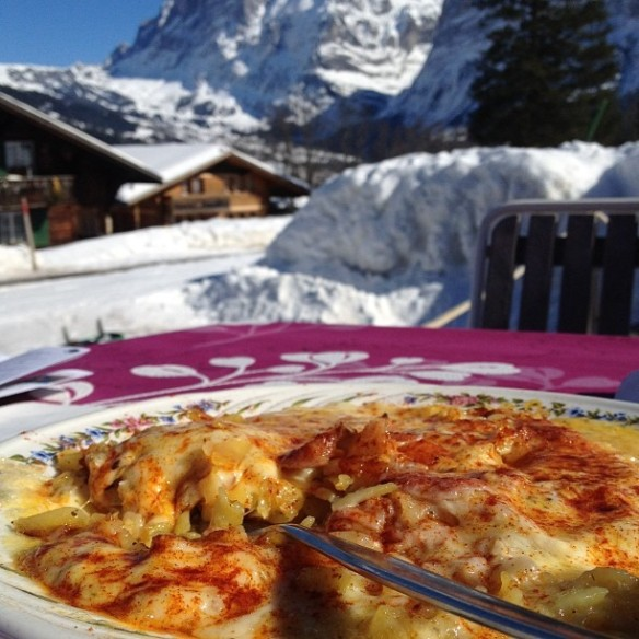 Hearty mountain Rosti in a sublime setting