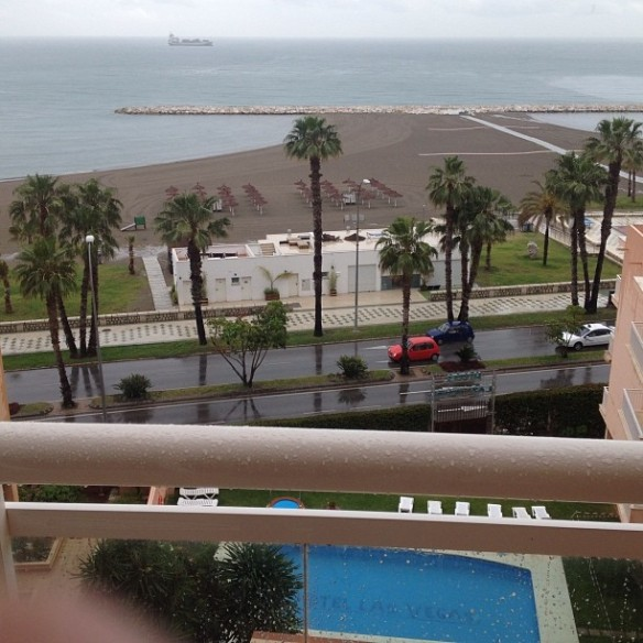 Greetings from my balcony in Malaga!  Looking forward to sunshine the next two days.