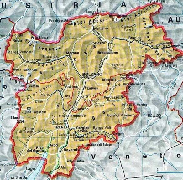 The Alto Adige region of Italy, the South Tyrol.